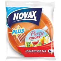 Набір Novax одноразового посуду 6 персон