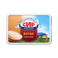 Сир плавлений Білоцерківський янтар класичний 60% 180г х20