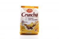Пластівці Crunchy вівсяні з бананом і шоколадом 350г
