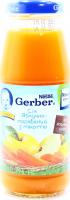 Сік Gerber яблучно-морквяний з мякіттю 0,175л х6