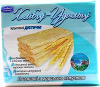 Хлібці Удальці пшеничні з морск. капустою 100г