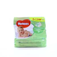 Серветки Huggies Natural Care дитячі вологі 3*56шт х6