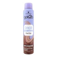 Шампунь сухий для волосся Schwarzkopf Got2b для брюнеток, 200 мл