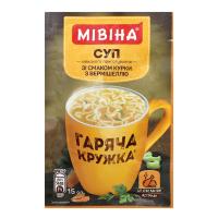 Суп Мівіна смак курки з вермішеллю 15г х32