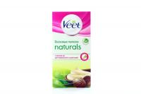 Воскові смужки Veet Naturals для депіляції 10шт+2серв х6