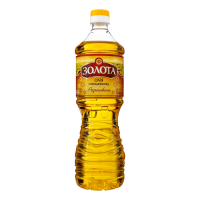 Олія соняшникова Золота рафінована пет 0,82л х15