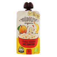 Каша Rudolfs Organic безмол. вівсяна з персиком і бананом 110г