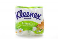 Туалетний папір Kleenex Cottonelle AromaCare Camomile Білий, 4 шт.