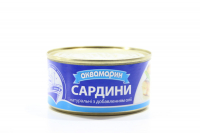 Сардина Аквамарин натуральні з добавленням олії ж/б 200г х36