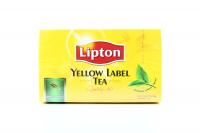 Чай Lipton Yellow Label Tea чорний байховий 50пак. х6