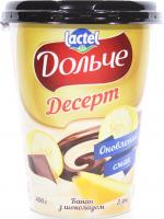 Десерт Lactel Дольче Банан з шоколадом 3,4% 400г х6