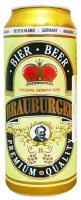 Пиво Brauburger Premium світле ж/б 0.5л