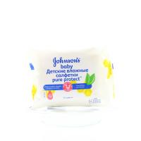 Дитячі серветки вологі гігієнічні Johnsons Baby Pure Protect, 25 шт.