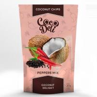 Чіпси Cocodeli кокосові солоні з сумішшю перців 30г