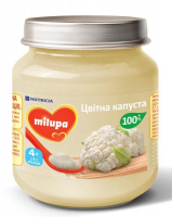 Пюре Nutricia Milupa цвітна капуста 4+ с/б 125г