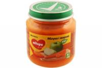 Пюре Milupa дитяче Яблуко, морква 125г