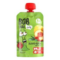 Пюре Snail Bob яблуко-персик 90г