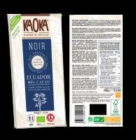 Шоколад Kaoka чорний 80% какао 100г