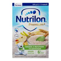 Каша Nutricia Premium молочна манна з яблуком та бананом 225г