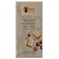 Шоколад органічний Ichoc білий з горіховими шматочками 80г