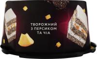 Торт Сладков Творожний з персиком та чіа 0,5кг