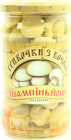 Гриби Грибочки з бочки шампіньйони мариновані 275г