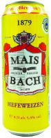 Пиво Mais Bach Hefeweizen з/б 0,5л