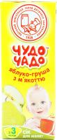 Сік ОКЗДХ Чудо чадо яблуко-груша з м`якоттю 0,2л х12