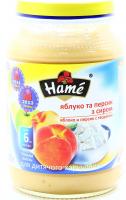 Пюре Hame персик із сиром 190г х10