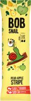 Цукерки Равлик БОБ страйпси Яблуко-груша 14г х12
