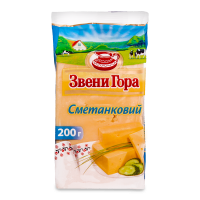 Сир Звенигора Сметанковий 50% фасований 200г