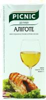 Вино Picnic Аліготе біле сухе 1л B&B х6