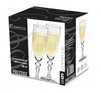 Бокали Krosno для шампанського Prestige Castello 180мл 6шт.