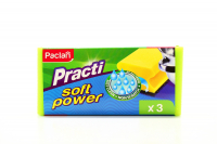 Губка Paclan Soft Power 3шт.