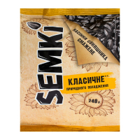 Насіння Semki соняшника смажене Класичне 240г х50