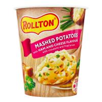 Пюре Роллтон стакан картопляне зі смаком шинки та сиру 55г х12