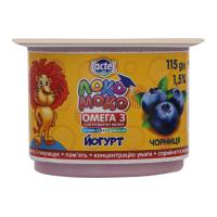 Йогурт Lactel Локо Моко Чорниця 1,5% 115г х16