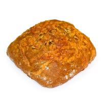 Чіабатта бездріжджова солодова з насінням соняха ваг