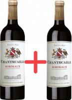 Вино GVG Chantecaille Bordeaux Rouge червоне сухе 12.5% 0,75л*2 шт (набір)