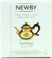 Чай Newby Earl Grey чорний байховий ароматиз. 15пак 37,5г х4