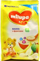 Каша Milupa Nutricia молочна суха манна з фруктами 210г х9