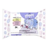 Дитячі серветки вологі гігієнічні Bella Happy з Вітаміном E, 24 шт.