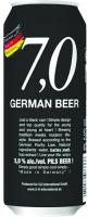 Пиво 7,0 German Pilsner beer світле фільтроване пастеризоване 5% 0,5л з/б