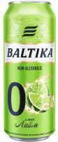 Пиво Балтика Non-alcoholic б/а 0% світле лайм ж/б 0,5л