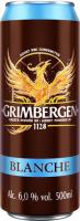 Пиво Grimbergen Blanche світле пастеризоване 6% 0,5л ж/б