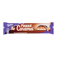 Шоколад Milka молочний з арахісом та карамеллю 37г
