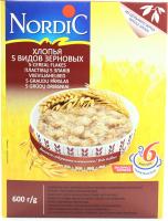 Пластівці Nordic 5 видів зернових 600г