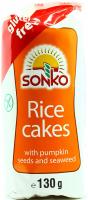 Галети Sonko рисові з насінням гарбуза 130г