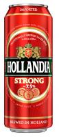 Пиво Hollandia світле фільтроване 7.5% 0,5л ж/б