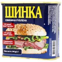 Шинка Power banka свинина рублена ж/б 340г
